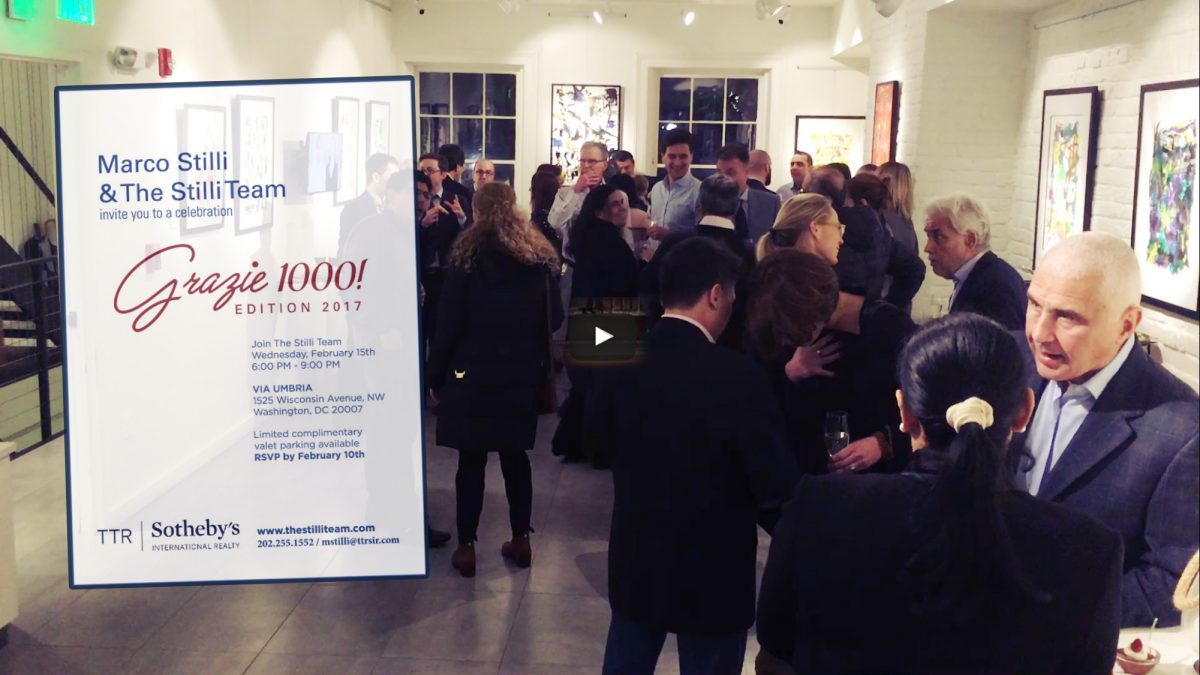 Grazie Mille ! Edition 2017 Party Event February 15th 2017 at Via Umbria Georgetown